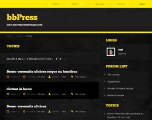bbPress Topics Listing