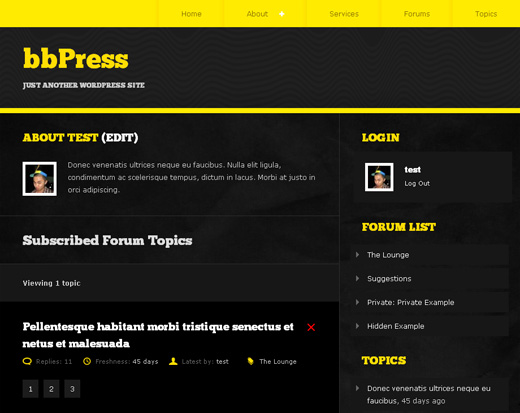 bbPress User Profile Page